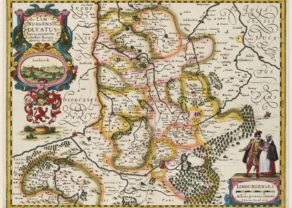 Old map of Limbourg (Limburg) by Kaerius (Germania Inferior)