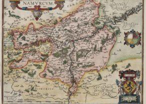 Old map of Namur by Abraham Ortelius ((Theatrum Orbis Terrarum)