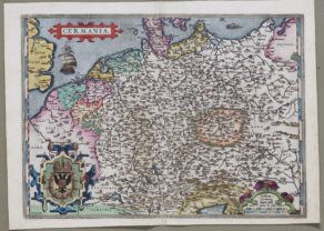 Old map of Germany by Abraham Ortelius
