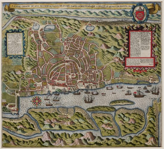 Old map of Goa by de Bry