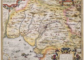 Old map of Andalusia by Ortelius