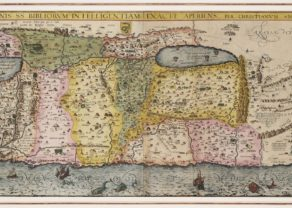 Old map of the Holy land by van Adrichem