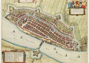 Old map of Kampen by Braun and Hogenberg, 1649