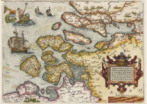 Old map Zeeland by Ortelius 1590