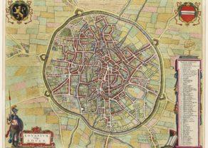 OLd map Leuven by Blaeu, 1649