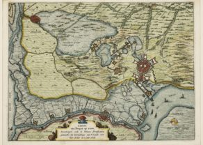 Vicinity of Bergen-op-Zoom, by Johannes Janssonius 1628