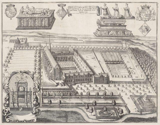 Abbey at Heverlee by Sanderus 1738