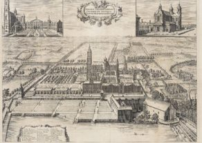 Old view of the abbey at Grimbergen, near Brussels by Sanderus