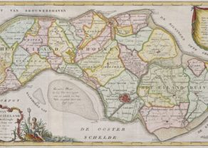 Old map of Schouwen-Duivenland by Isaac Thirion, 1753