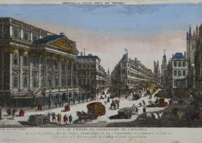 Optica print of the Mansion of the Lord Maire in London by Daumont