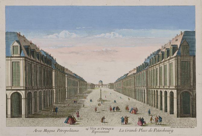 Optica print of Saint Petersburg by François Daumont