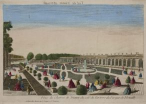 Optica print, Palace of Trianon (Versailles) by Basset