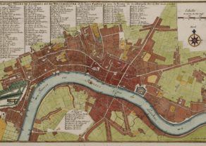 Old map of London by Nicolas de Fer, 1705