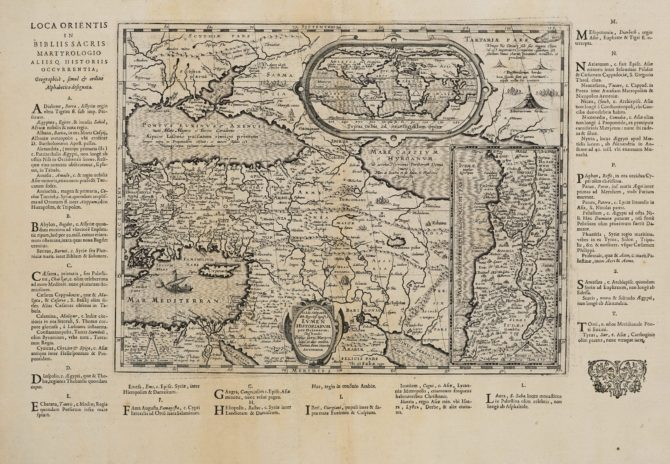 Rare old map of Middle East by Ortelius 1624