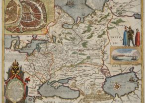 Old map of Moscou region by Willem and Joan Blaeu