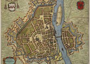 Maastricht, large city map by Frederik de Wit, 1695