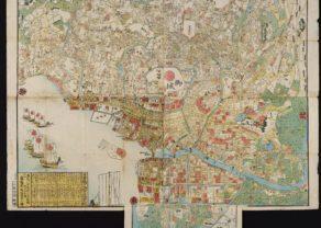 Large map of Edo (Tokyo), 1861