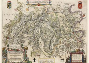 Map of Fossa Eugeniana by Blaeu