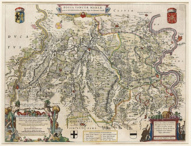Map of Fossa Eugeniana by Blaeu