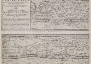 Set of four maps of Peutinger by Ortelius, 1624