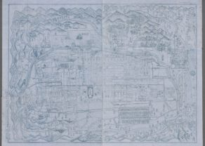 Old Japanese map of Kyoto, mapmaker unknown, circa 1880