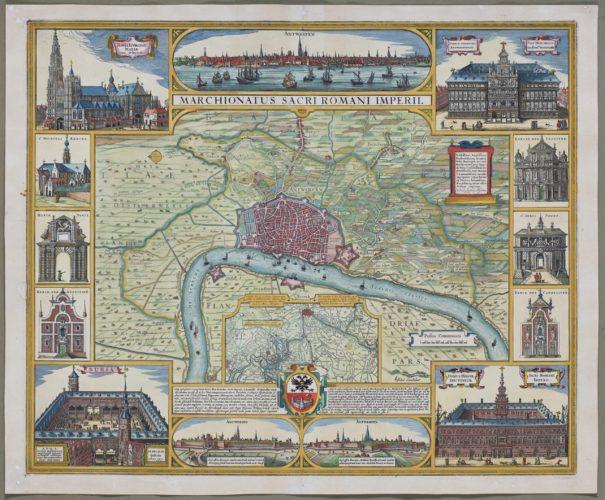 Old map of Marquisate of Antwerp by Visscher, 1683