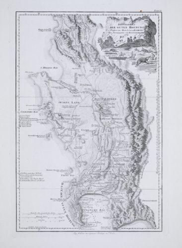 Large map of Cape of Good hope by Schraembl after de la Rochette, 1789