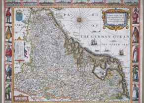 Old carte-à-figures map by John Speed