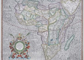 Old map Africa by Henricus Hondius, 1628