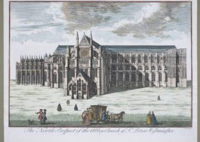 Optica printAbbey Church of St Peter's Westminster (North side), by Cole North Prospect