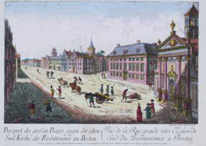 Optica print, Boston 1770 by Habermann