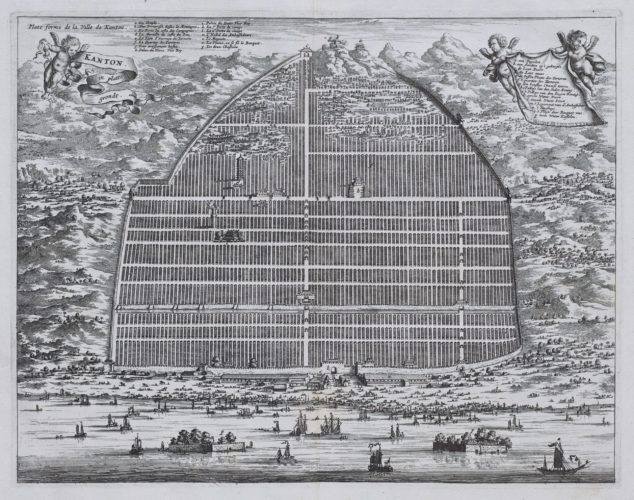 View of Kanton by Meurs, 1665, published in Dapper