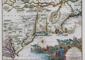 Old map of New Holland/New England, by Montanus and van der AA, 1670/171729