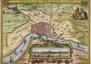 Old map of the Marquisate of Antwerpen by Kaerius, 1617