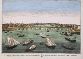 Optica print 1700 Westminster bridge in London