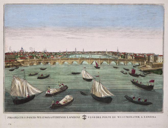Optica print 1700 Westminster bridge in London