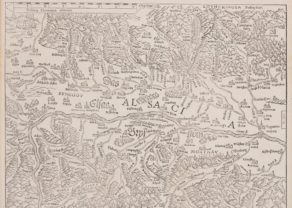 Old map of Alsace abd Breisgau by Münster, 1540