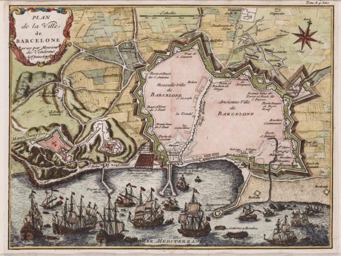 Barcelona, by Le Marquis de Quincy 1725