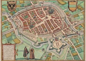 old map of Groningen by Braun Hogenberg, 1575