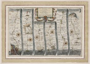 Old map by John Ogilby, 1674