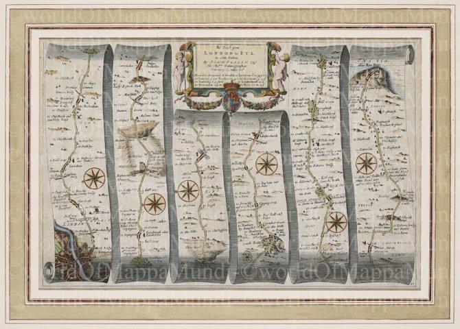 Old map by John Ogilby, 1674
