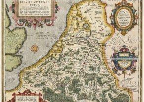 Antique Belgium or Belgica by Abraham Ortelius, 1594
