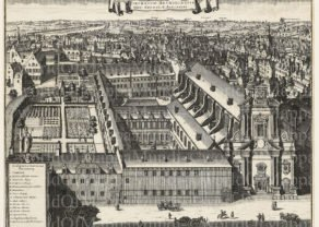 Augustinian Convent (Brussels) by Sanderus, 1663