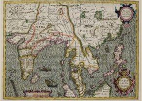 Sout East Asia, Hondius, 1630