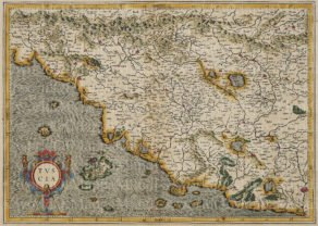 old map Tuscany by Mercator, 1600