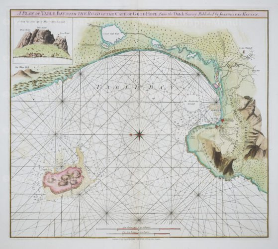 Cape of Good HOpe by van Keulen (published Laurie & Wittle), 1740-1794