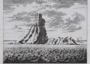 Old view of the Teide (Tenerife) by Dapper/Ogilby, 1668-1670