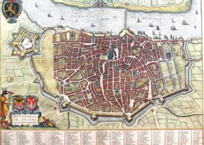 Old map Antwerpen by Joan Blaeu, 1649