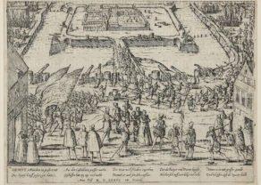 Hogenberg, old view Gent citadel, Geschichtsblätter