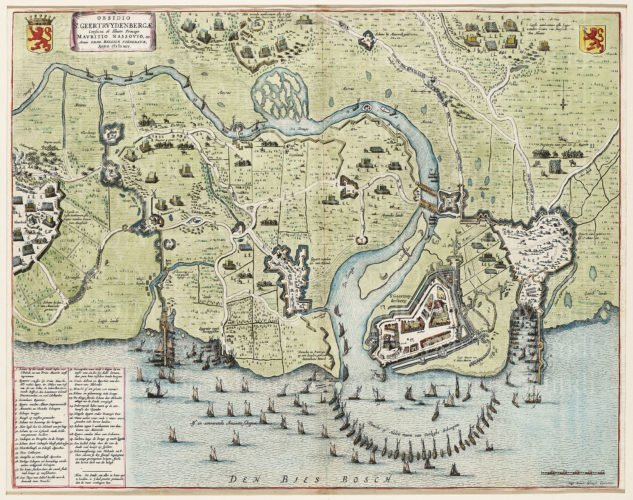 Old map of Geertruidenberg, Blaeu, 1649